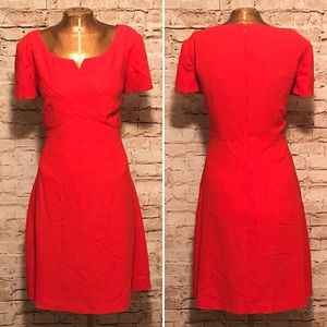 Vintage 1990s Lipstick Red Liz Claiborne Dress